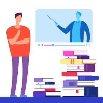 Selbstbildung mit büchern und online-kursen