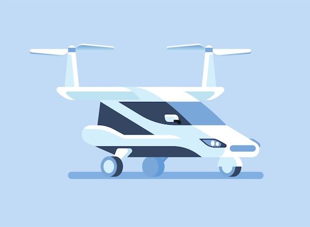 Selbstfahrendes fliegendes auto oder taxi