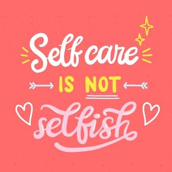 Selbstliebesbeschriftung mit motivierenden worten