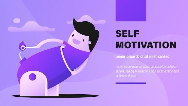 Selbstmotivation.
