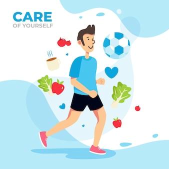 Selbstpflege-gesundheitskonzept