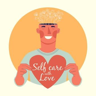 Selbstpflege-illustrationskonzept