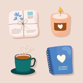 Selbstpflege-symbolsatz