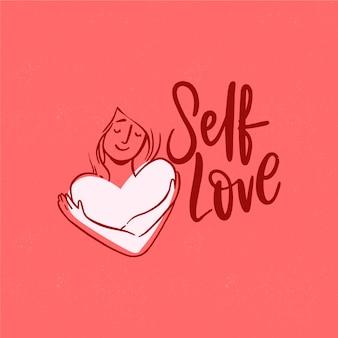 Self love schriftzug tapete