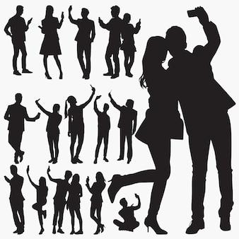 Selfie-silhouetten