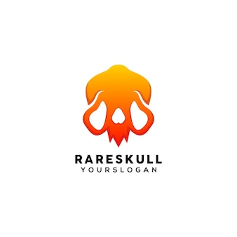 Seltene bunte logo-design-vorlage mit totenkopf
