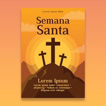 Semana santa poster vorlage