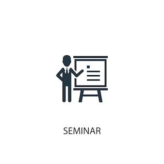Seminarsymbol. einfache elementabbildung. seminarkonzept symboldesign. kann für web und mobile verwendet werden.