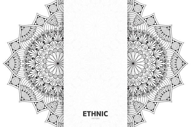 Semless design mandala des ethnischen stammesmusters