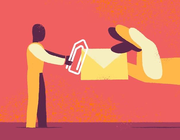 Senden einer nachricht design