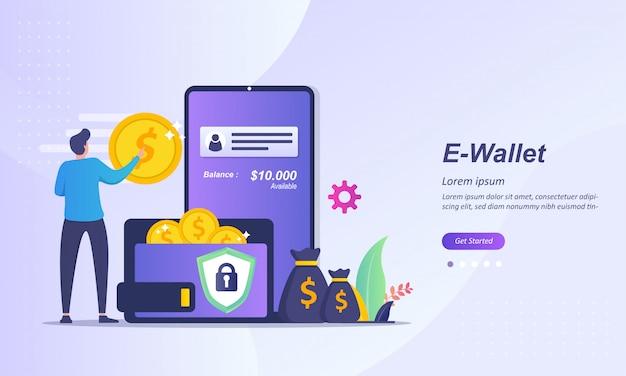 Senden sie geld an eine brieftasche oder überweisen sie geld an mobile banking