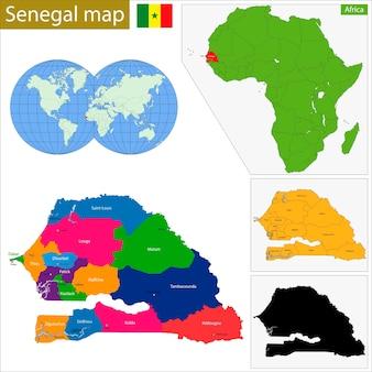 Senegal karte
