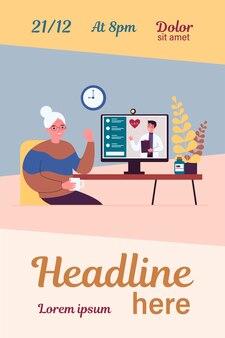 Senior lady beratender arzt online