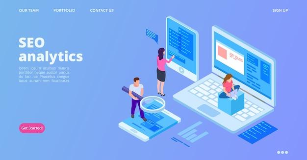 Seo analytics landing page