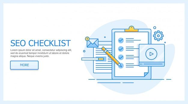 Seo checkliste Premium Vektoren