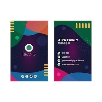 Seo doppelseitige visitenkarte