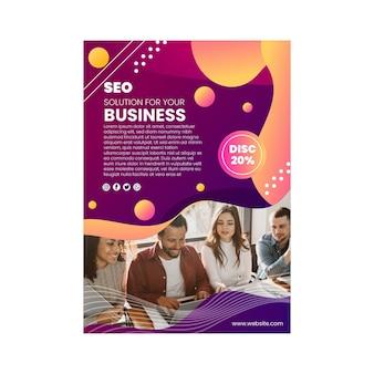 Seo flyer template design mit teamarbeit