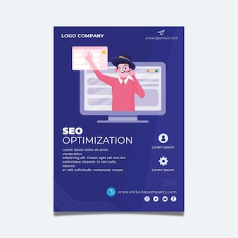Seo flyer vorlage design