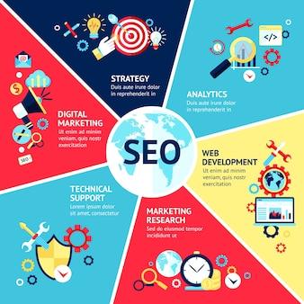 Seo infographik-set