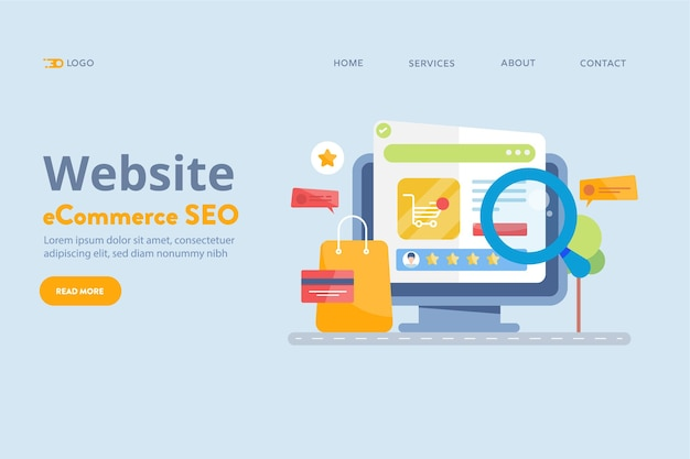 Seo-konzept für e-commerce-websites