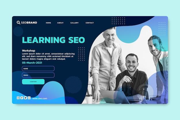Seo landing page design-vorlage