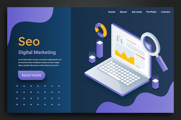 Seo marketing landing page
