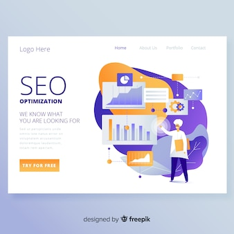 Seo optimierung landing page design