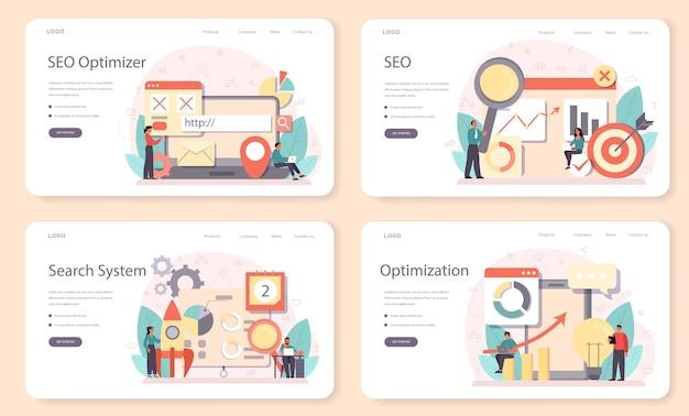 Seo optimizer web banner oder landing page set