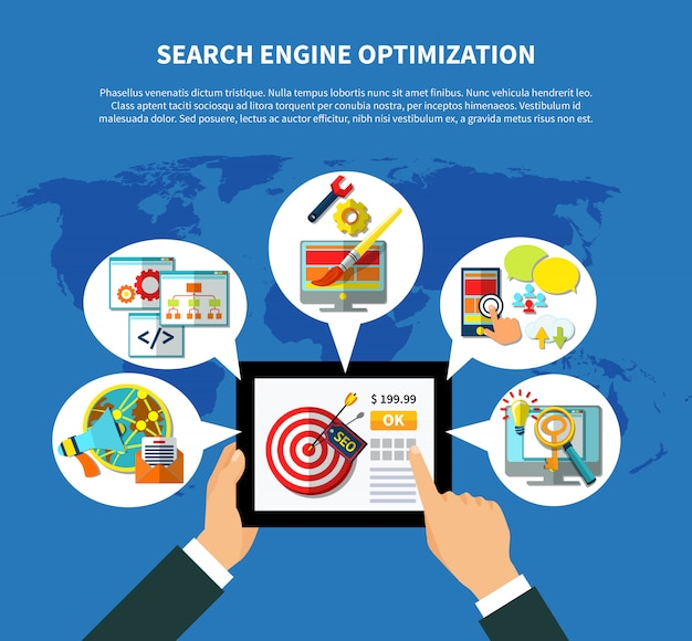 Seo services worldwide-konzept