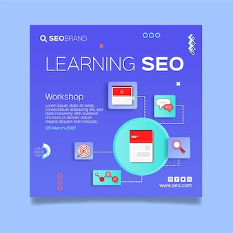 Seo strategie quadrat flyer