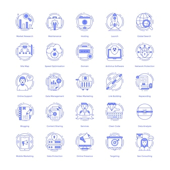 Seo vector icons pack
