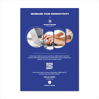 Seo virtual content flyer vorlage