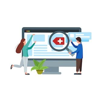 Seo webgeschäfts-internet-illustration