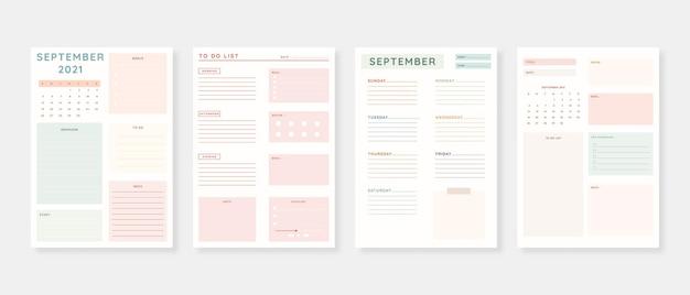 September 2021 planervorlage