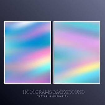 Ser holographischer hintergrund mit lebendigen farben