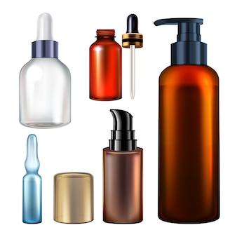 Serum blank packages flaschen sammlungsset