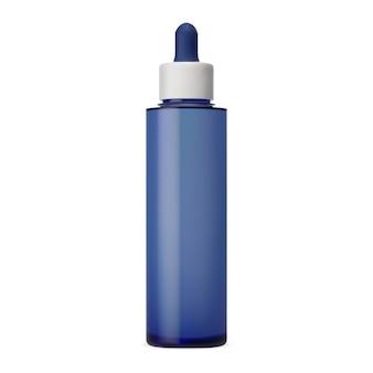 Serum kosmetische flüssige tropfflasche vektorvorlage luxus-gesichtskollagen-feuchtigkeitsflasche