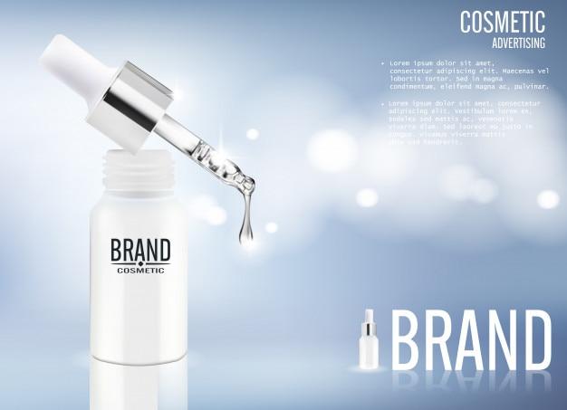 Serum kosmetische werbung