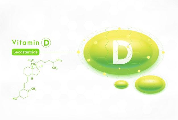 Serum- und vitamin d-konzept. Premium Vektoren