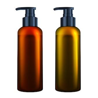 Serumflüssige kosmetikflasche mit pumpe