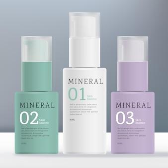 Serumpumpenflasche für schönheitskosmetik oder gesundheitswesen mit mattem deckel