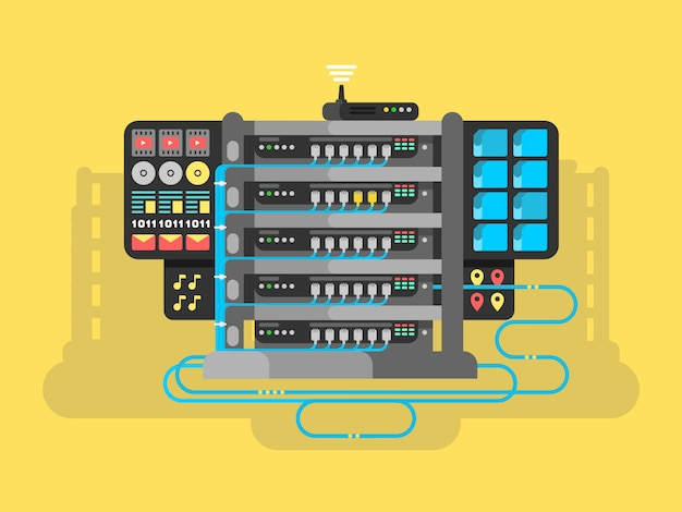 Server design flach