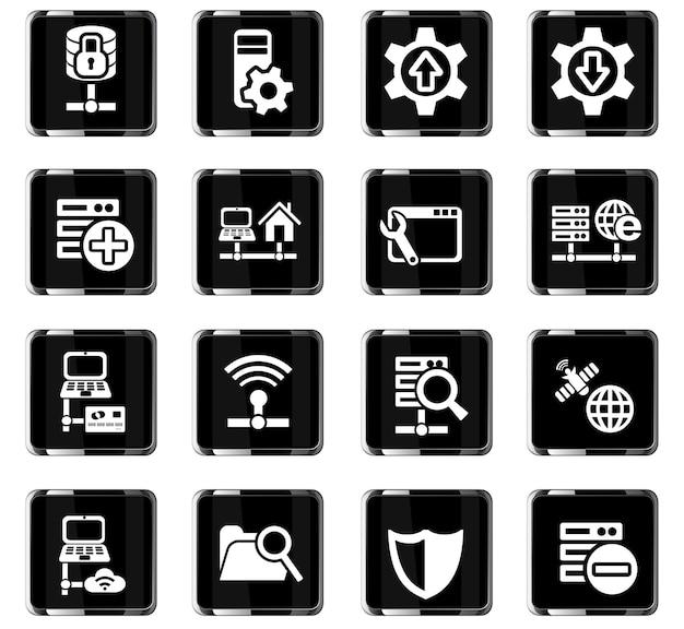 Server-websymbole für das design der benutzeroberfläche
