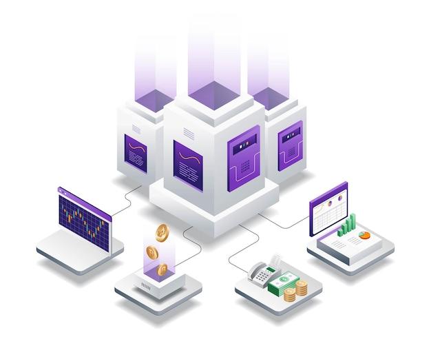 Serverhandel und bitcoin-investitionen