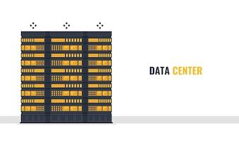 Serverraum Banner, Mainframe Server Rack, Webhosting