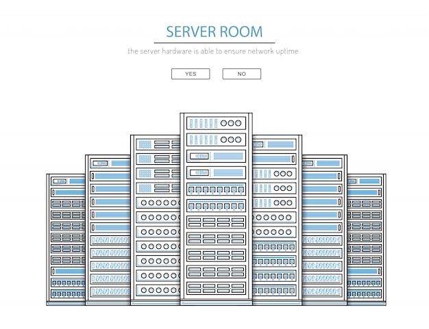Serverraum und rechenzentrum