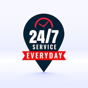 Service alltagsetikett mit zeiger