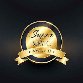 Service-award-label-design-vektor