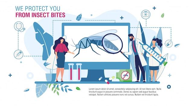 Service bietet mittel für insektenstich-schutzschablone an