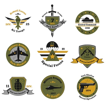 Service insignia emblem collection